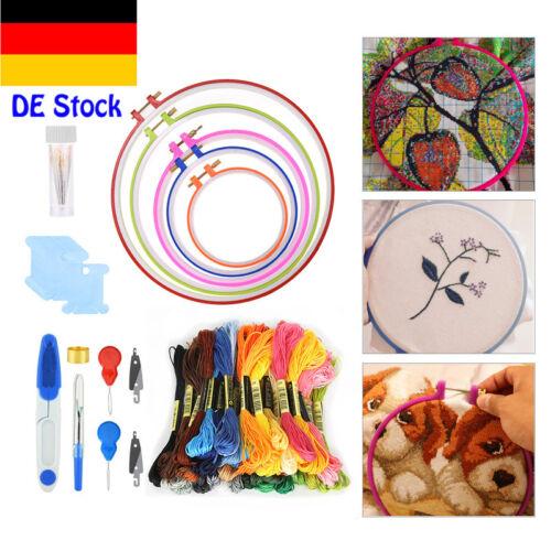 50 Farbe Embroidery tool set Stickgarn Strickrahmen Kreuzstich Striken New