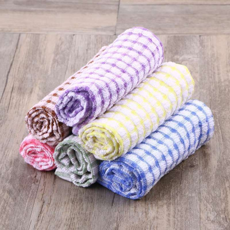 Cleaning Towel Dish Towel 100% Cotton Kitchen Towels Lot Col