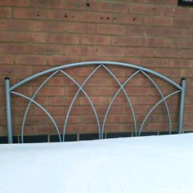 Double bed metal headboard