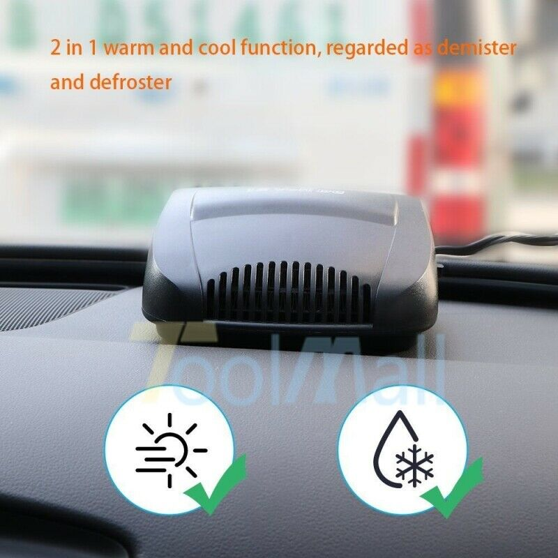 150w Car Portable 2 In 1 Ceramic Heating Cooling Heater