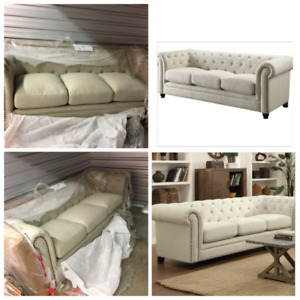 Tufted Sofa, 3 seater couch