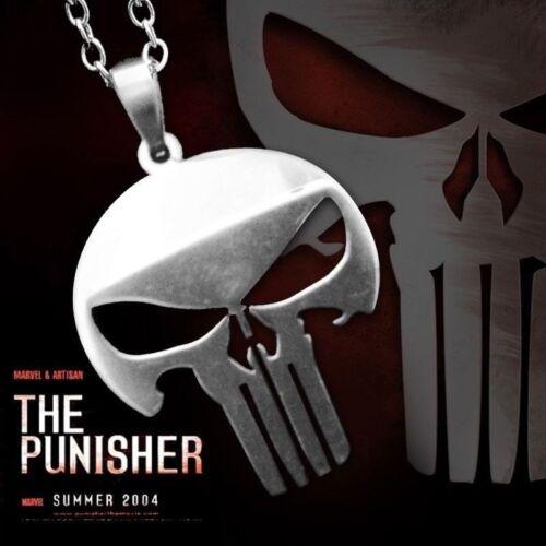Collana Acciaio Teschio The Punisher Punitore Teschio Harley Uomo Donna