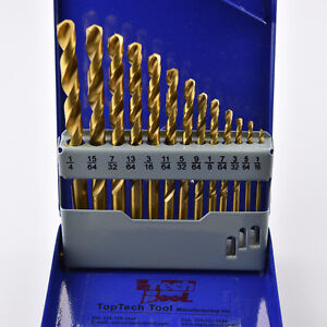 13pcs M2 Jobber drill Sets in Metal Case, Tin Coated Kitchener / Waterloo Kitchener Area image 1