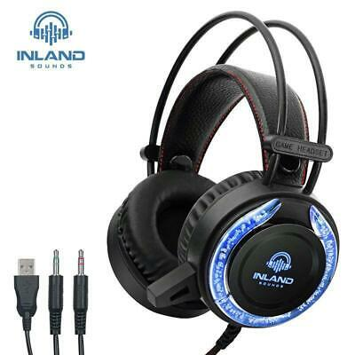 RGB Gaming Headset with Mic Surround Sound Headphones for PC Pro Gamer