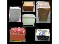 WICKER CHAIRS/HAMPERS/BEDSIDES