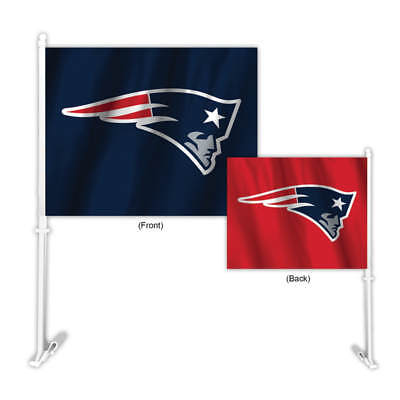 New England Patriots Two Color Home and Away Car Flag  - Patriots Flag