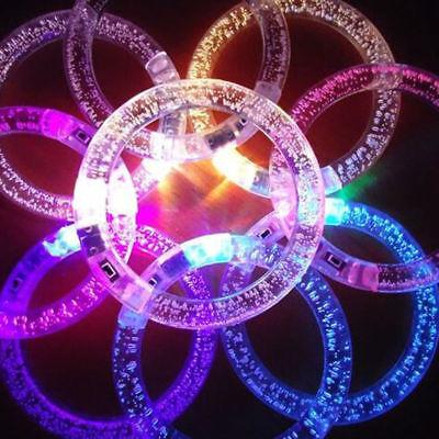 1/5/10Pcs Multicolor LED Glow Luminous Dark Bracelet Bangle Party Kids Toys Gift