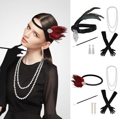 Flapper Girl Accessories (Ladies Girl Gatsby Fancy Dress Flapper 20'S Charleston Costume Accessories)