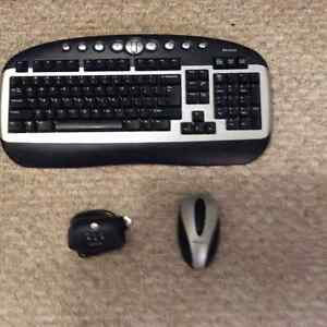 Wireless optical mouse and keyboard