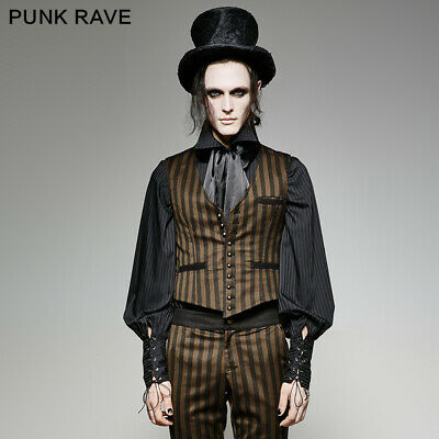 Punk rave gothic steampunk mens vest vintage Gentlmen clothes Waistcoat (Steampunk Clothing Men)