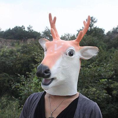 Creepy Deer Reindeer Head Face Animal Costume Halloween Party Prop Carnival Mask - Deer Head Halloween Costume