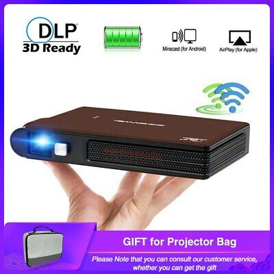 Caiwei S6W Portable Pocket Mini 3D DLP Projector LED Home Cinema Support HD1080P