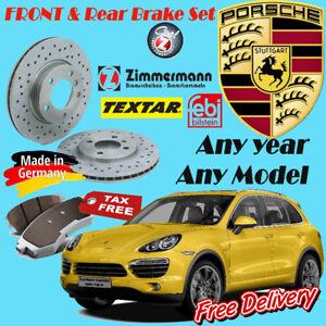 Porsche Brake Sets (Rotor/Pad/Sensor) Any year Any Model Porsch