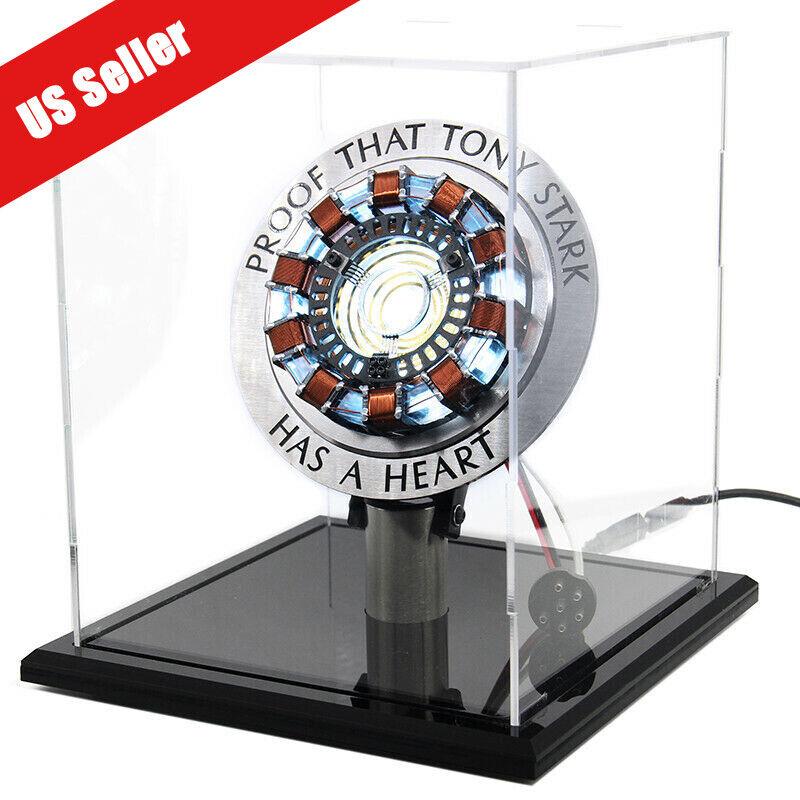 DIY Iron Man MK1 Arc Reactor Master Grade Props Display Box Stand Base USB Power Entertainment Memorabilia