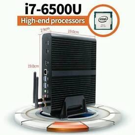 BRAND NEW!! 6th generation i7-6500u fanless pc with 8GB RAM /128GB SSD