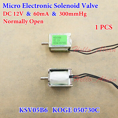 Dc 12v Mini Electric Solenoid Valve Normally Open Diy Sphygmomanometer Monitor