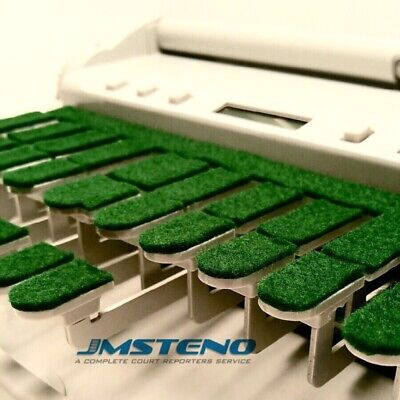 Steno Writer Keytop Covers Green Velcr For Stenograph
