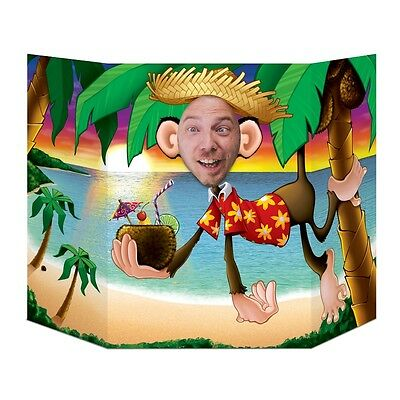 Luau Monkey Photo Prop - 94 x 64 cm - Hawaiian Beach Party Cutouts & Standins - Hawaiian Photo Cutouts