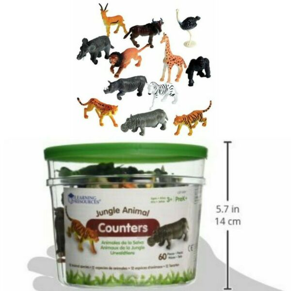 BNIB: Learning Resources Jungle Animal Counter Set of 60