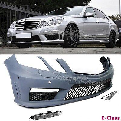 For 10-12 E-Class Mercedes Benz W212 Sedan AMG Style PDC Front Bumper Fog ADN