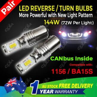 2PCS 114W LED BA15S 1156 P21W Car Reverse Signal Light ERROR FREE North Melbourne Melbourne City Preview