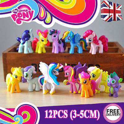 Set of 12 Pcs My Little Pony Cake Toppers PVC Action Figures Kids Girl Toy uk
