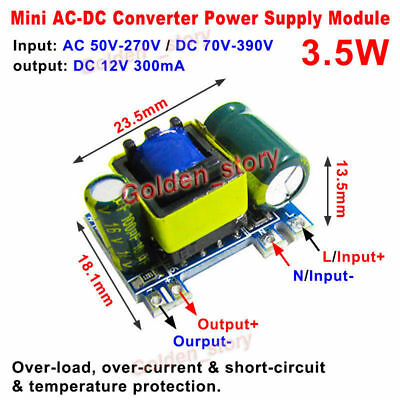 Ac-dc Converter 110v 220v 230v To 12v 300ma Isolated Switching Power Transformer