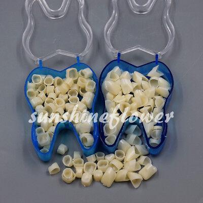 50 Pcs Dental Temporary Crown Veneers Anterior Front Synthetic Resin Teeth Tooth