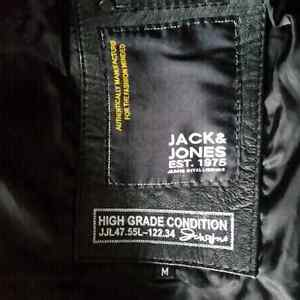 Jack & Jones black leather bommer  Edmonton Edmonton Area image 1