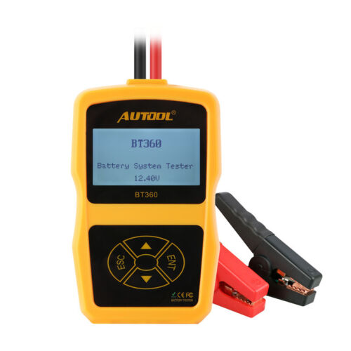 Autool BT360 Auto 12V Battery Tester Automotive Battery Analyzer Multi-Langue