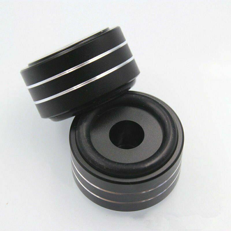 4×Aluminum HIFI AMP Speaker Isolation Stand Turntable DAC Feet Pad 40x20mm