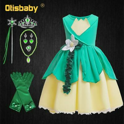 Princess Tiana Infant Costume (Baby Girls Tiana Dress Princess And The Frog Costume Children's)