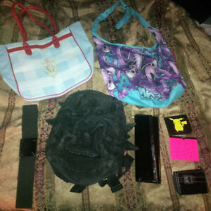 BEST OFFER * Backpack, beach bag, sling bag, and wallets