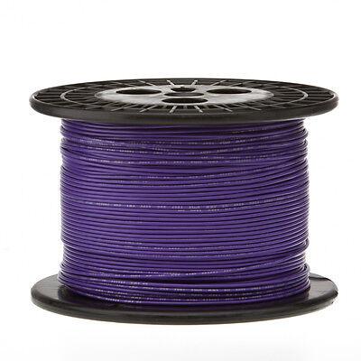 22 Awg Gauge Solid Hook Up Wire Violet 1000 Ft 0.0253 Ul1007 300 Volts