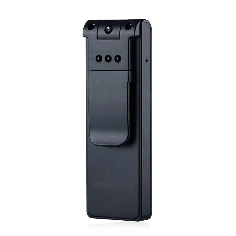 Full HD 1080P Police Body Lapel Worn Video Camera DVR IR Nig