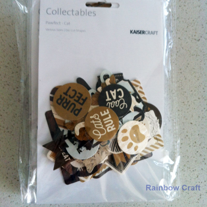 2016-2019 Kaisercraft Die Cuts Scrapbooking collectables 62 option Embellishment - Pawfect Cat