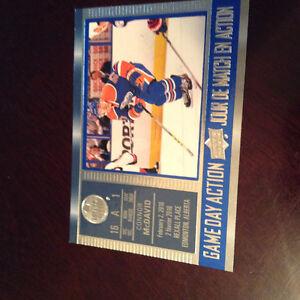 2016-17 Connar Mcdavid upper deck game day action hockey card