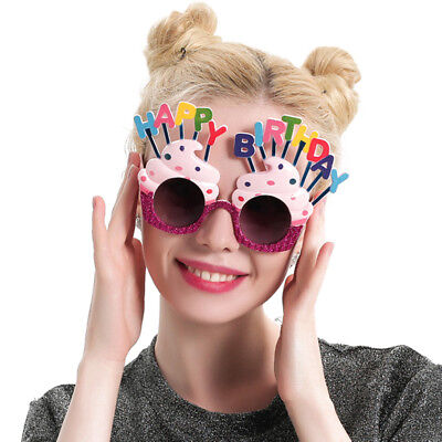 Happy Birthday glasses,fun party glasses,cupcakes with candles party fun - Glasses Fun