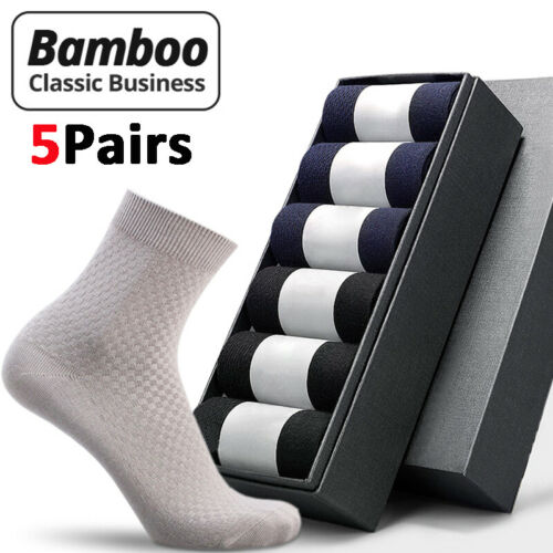 5 Pairs Mens Bamboo Charcoal Fiber Short Breathable Ankle Socks Father/'s Gift