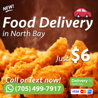Food Delivery in North Bay! [FASTER & CHEAPER]!