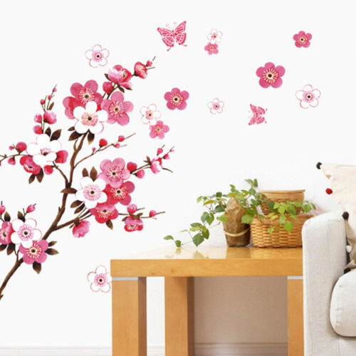 Home Decoration - Large Cherry Blossom Flower Butterfly Tree Wall Stickers Art Decal Home Decor E