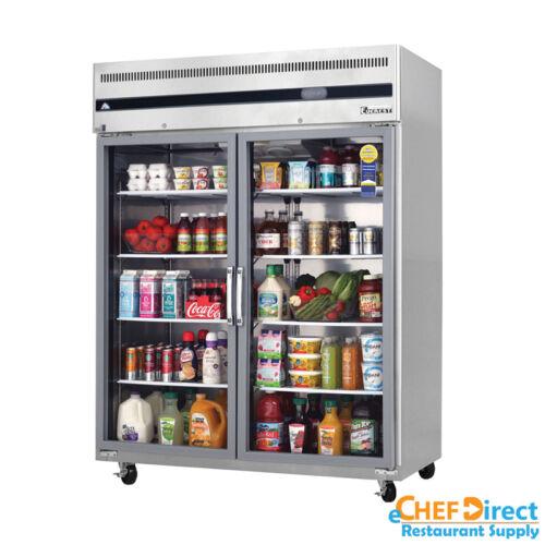"Everest Esgwr2 59"" Double Glass Door Reach-in Refrigerator"