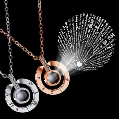 I LOVE YOU in 100 languages Wife's gift Pendant Necklace Chain Mothers Day