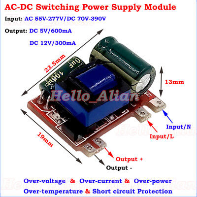 Mini Ac-dc Converter Ac110v 220v To 5v 12v Isolated Switching Power Transformer