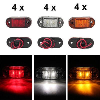 4x LED Front Side Marker Indicator Light 12V 24V Car Truck Van Trailers Amber UK