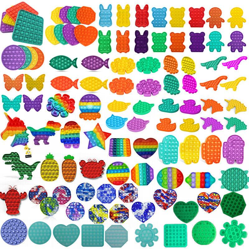 Fidget Toy Pop Its Square Push bubble stress relief kids pop it Antistress Toy
