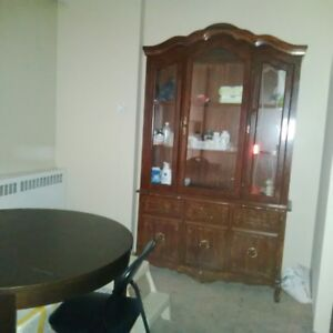 MOVING OUT:    CHINA CABINET & DRESSER