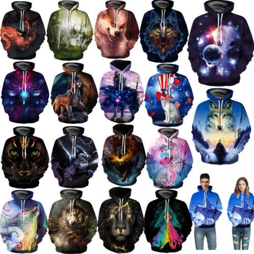 Men Women's Hoodie 3D Print Sweater Jacket Coat Pullover Gra