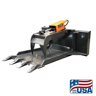 Skid Steer Concrete Grapple Claw Bucketquick Attachbobcatkubotaetc
