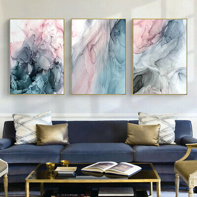 Watercolor Abstract Painting Modern Canvas Wall Art Poster Print Home Decoration